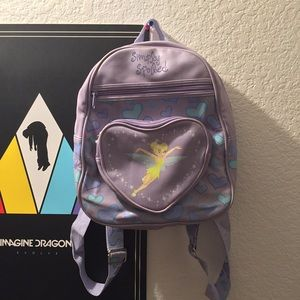 Vintage purple tinker bell backpack